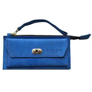 Sasha Leather Wallet (Blue)