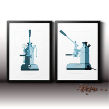 Load image into Gallery viewer, La Pavoni lever coffee machine double art print
