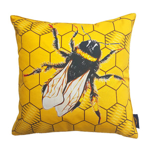 Bee Cushion - Yellow & Gold