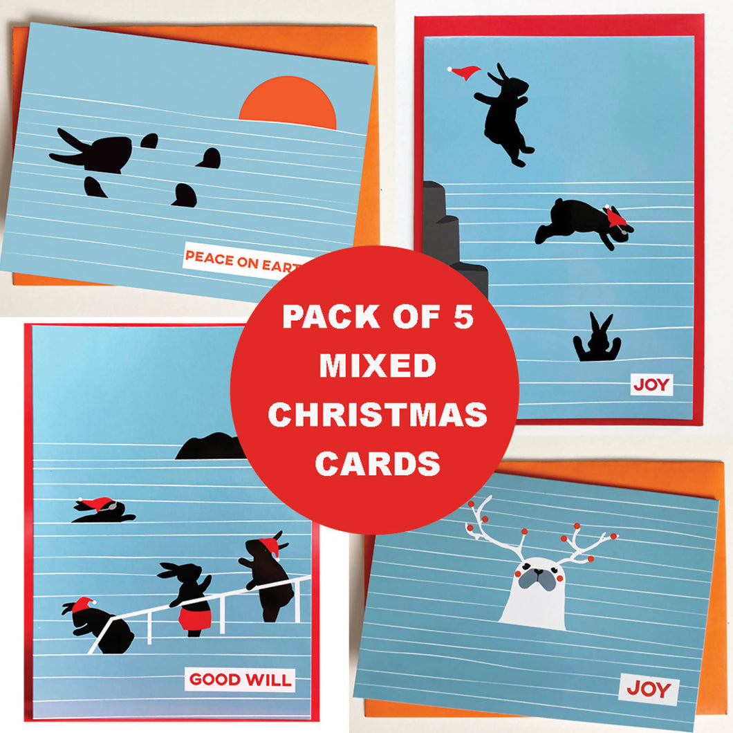 Christmas Cards Mixed Selection Pack of 5