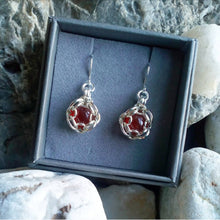 Load image into Gallery viewer, Silver Set Gemstone Earrings