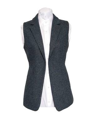Ladies Blue Tweed Gilet