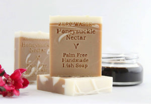 Palm Free Irish Soap, Sweet & Gentle Honeysuckle Nectar