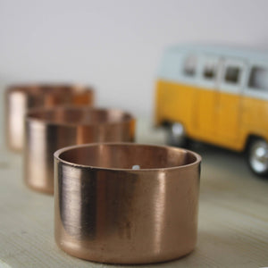 COPPER TEA LIGHT HOLDER X 3