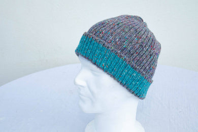 Two Tone Knitted Donegal Hat (choose from 12 colours)