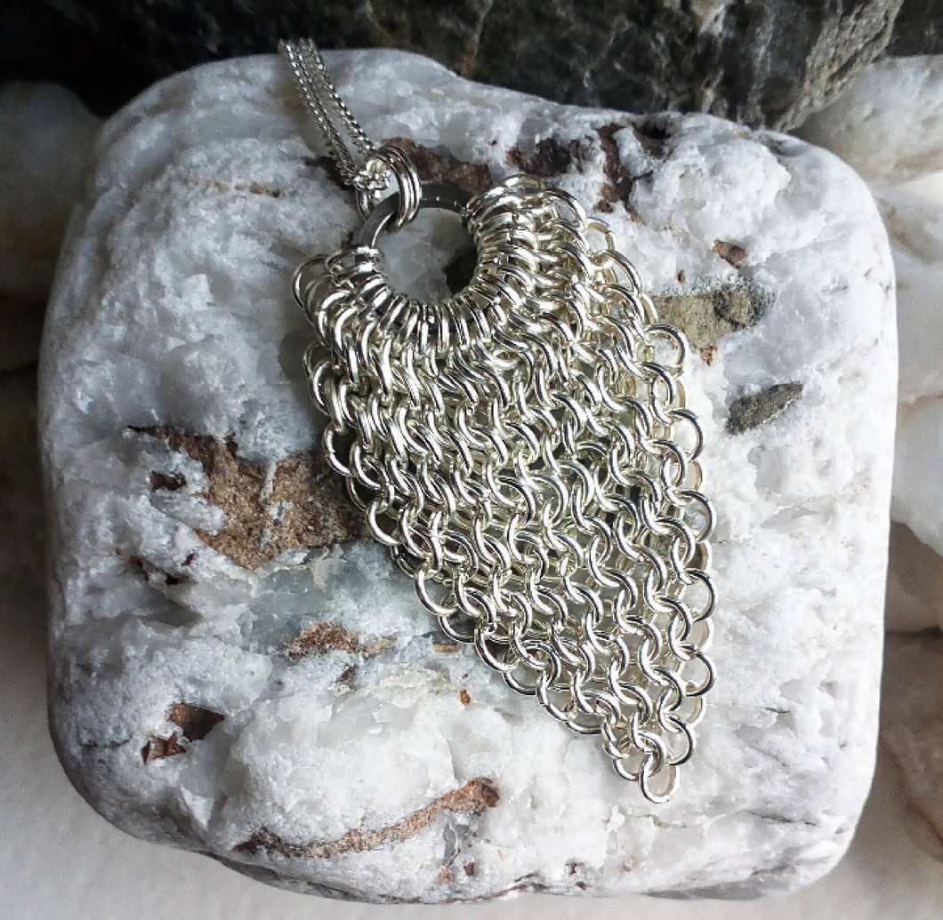 Chainmaille Taper Pendant.