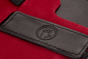 Magic Wallet Black with Luxury Red Suede