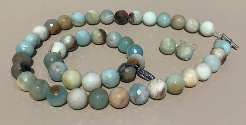 Amazonite Necklace, Bracelet and Earrings