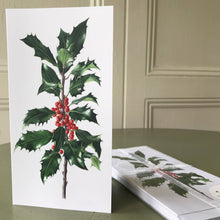 Load image into Gallery viewer, Dargle Hill Holly Christmas cards