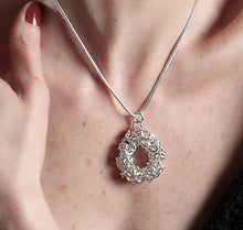 "Load image into Gallery viewer, ""Circle of Life"" silver chain maille necklace"