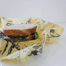Load image into Gallery viewer, Reusable Food Wrap - Lunch Wrap X 3