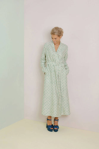 Mulberry Silk Robe Leh Sage