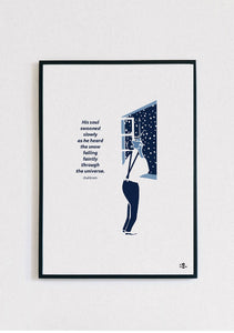 James Joyce Dubliners Snow Print