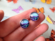 Load image into Gallery viewer, Lavender Fields earrings | post earrings | studs