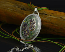 Load image into Gallery viewer, Cloisonné Silver Pendant