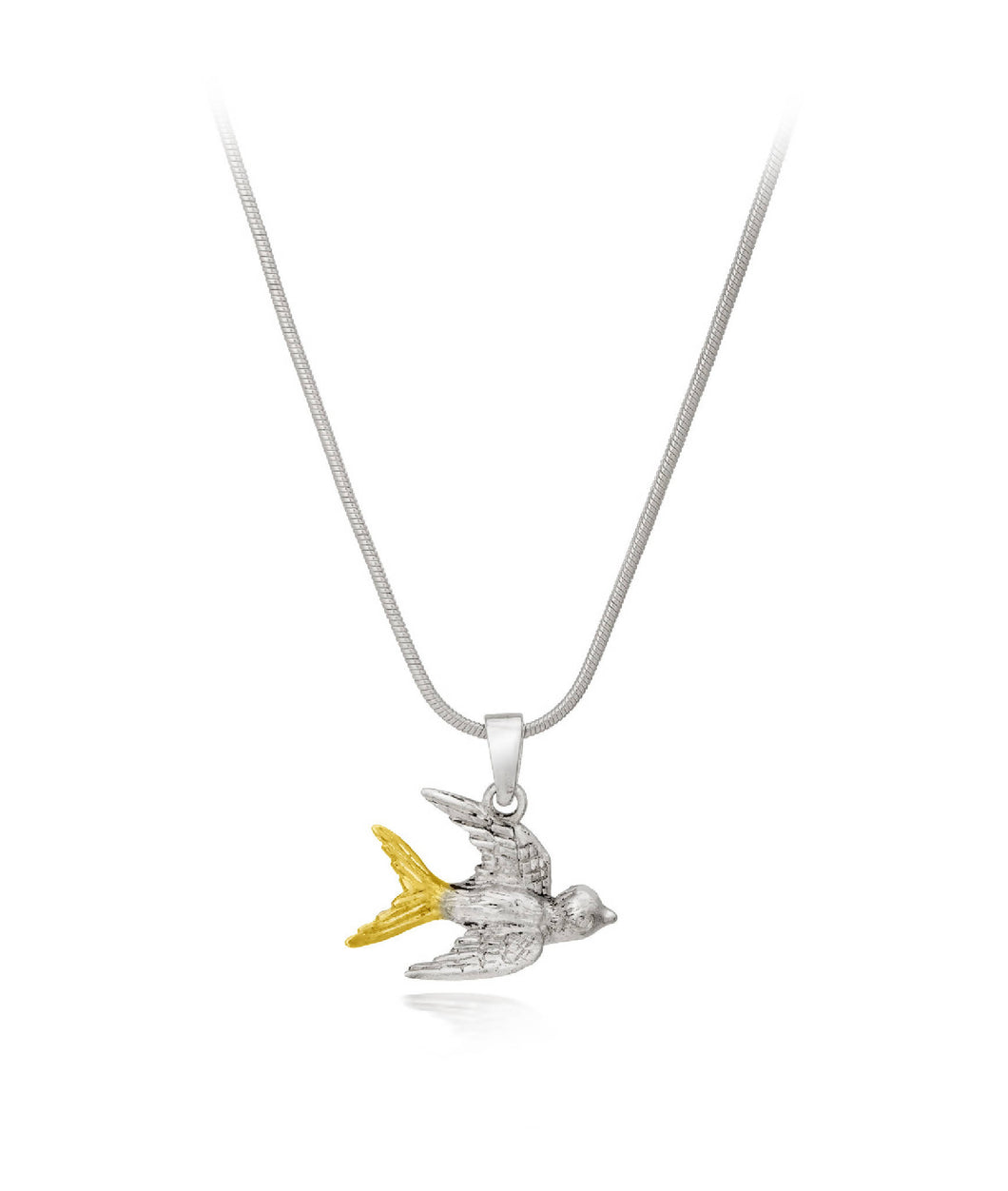 Wildlife Swallow Pendant with silver chain