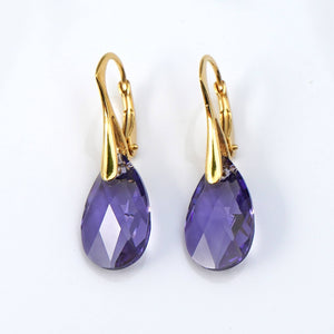 Small Pear shaped Drop earrings created with Swarovski® crystals