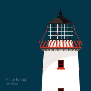 Clare island Lighthouse - art print