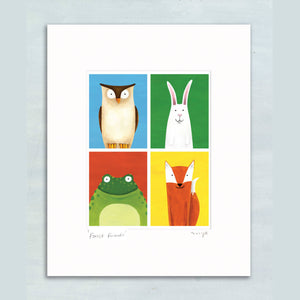Forest Friends giclee print 11 x 14""