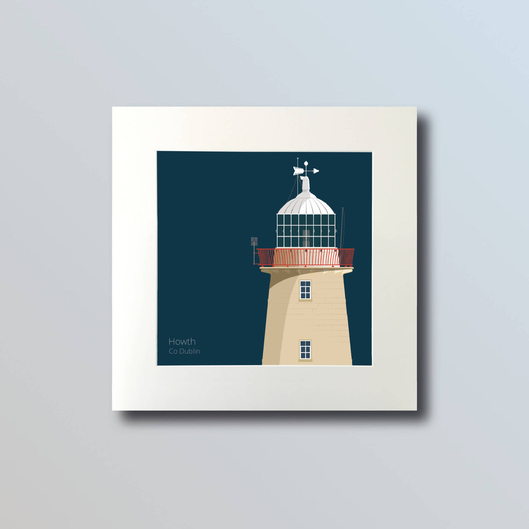 Howth Harbour Lighthouse - art print