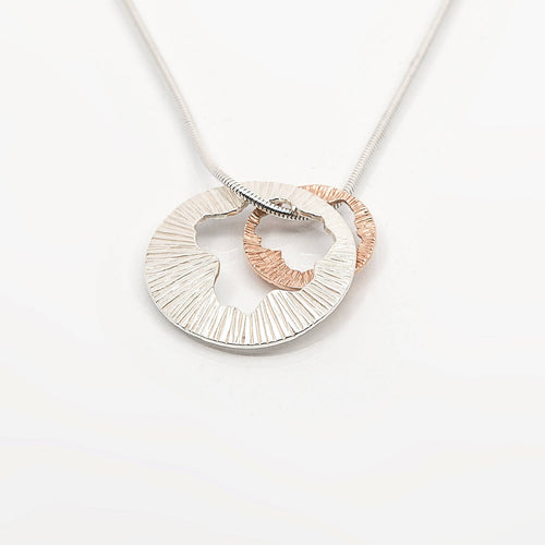 Shell Large Double Pendant with 9ct Rose Gold