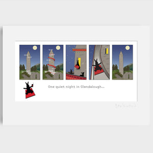 One Quiet Night in Glendalough Art Print