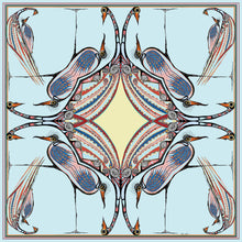 Load image into Gallery viewer, 'Generations'100% Satin Silk, 110cm Square Scarf
