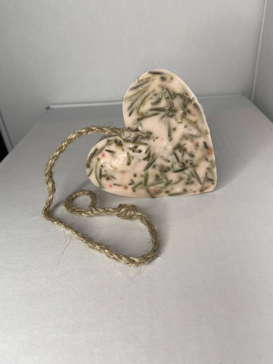 Soap on a Rope - Large Heart Shape