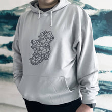 Load image into Gallery viewer, Adult Hoodie - Moondust Grey with embroidered Ireland logo - Unisex