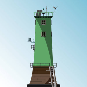 North Bull Lighthouse - art print