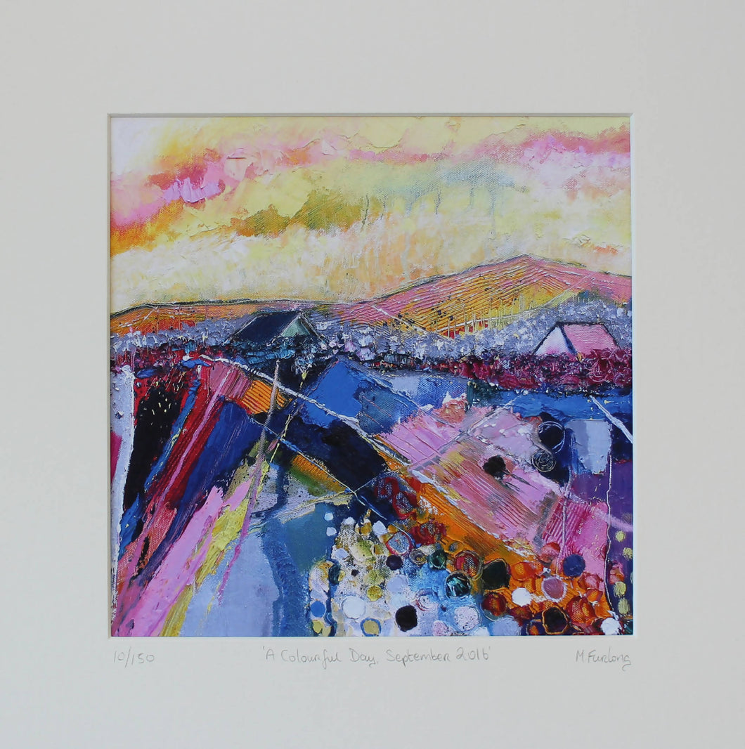 A Colourful Day - Limited edition print of an original painting