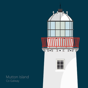 Mutton Island Lighthouse - art print