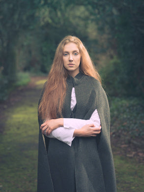 Ladies Irish Tweed Green Cape