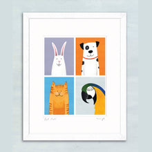 Load image into Gallery viewer, Pet Pals giclee print 11 x 14""