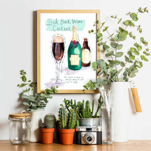 Irish Black Velvet Cocktail Recipe Print