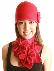 Coloured Rib Brimmed Blossom Hat