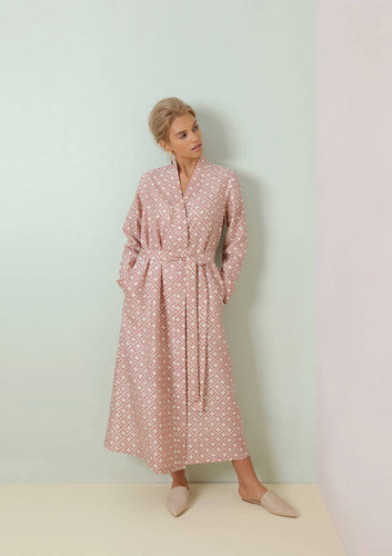 Mulberry Silk Robe Leh Blush