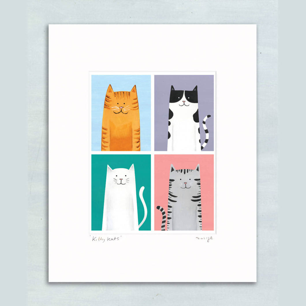 Kitty Kats giclee print 11 x 14
