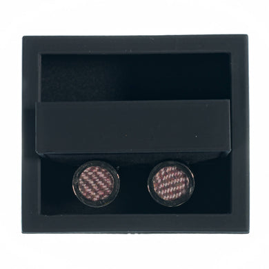Irish Rosewood Tweed Cufflinks