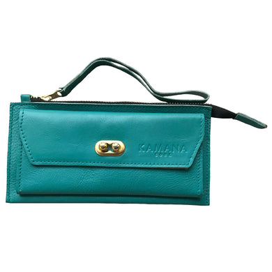 Sasha Leather Wallet (Teal)