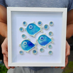 """Atlantic friends"" framed ceramics"