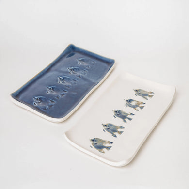 Rectangle Fish Platter- white