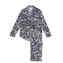 Load image into Gallery viewer, Leopard Navy Long Pyjama Set - 100% Organic Cotton