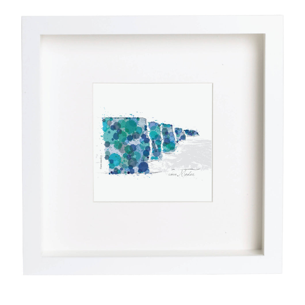 Abstract Print 'Cliffs of Moher'