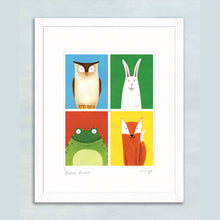 Load image into Gallery viewer, Forest Friends giclee print 11 x 14""