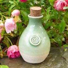 Load image into Gallery viewer, St.Brigid's Well Water Goddess Ceramic GREEN Keepsake