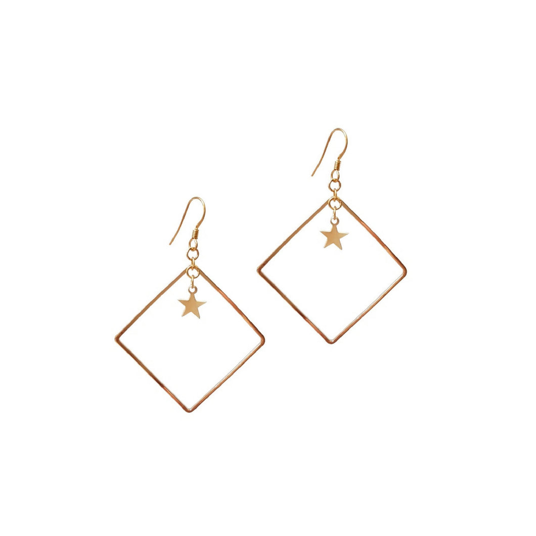 Square Star Earrings