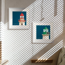 Load image into Gallery viewer, Dún Laoghaire West Lighthouse - art print