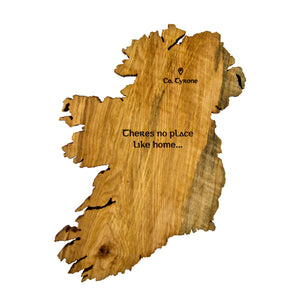 Map of Ireland Wall Art - Personalised