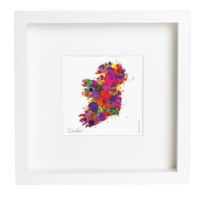 Abstract Ireland Map Framed